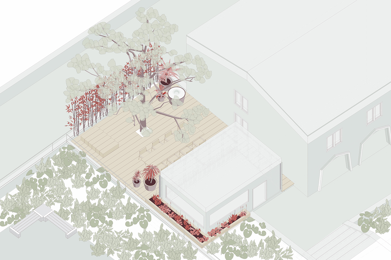 A TERRACE FOR 'THE NEST': St. John's Cathedral grounds
